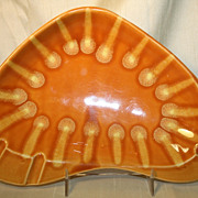 Hul Continental Ashtray Orange