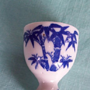 Egg Cup; Vintage Blue Willow