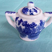 Children's Dishes,Blue Willow Sugar Bowl