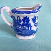 Children's Dishes, Blue Willow Cream Pitcher