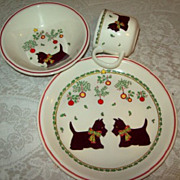 Scottie Dog Porcelain 3 piece Set