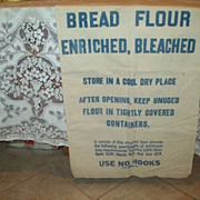 "WWII Historical ""Bread Flour"" Cotton Sack Textile"
