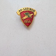 """1956"" Graduation School Pin AK-SAR-Ben"