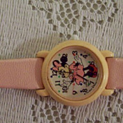 Vintage Disney Minnie Mouse Wrist Watch, Pink, Lorus Quartz