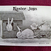 "Artist  F A MOSS 6496 ""Joyful Bunnies"" Easter Postcard"