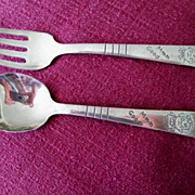 Campbell Kid's  Child's Vintage Spoon & Fork Set