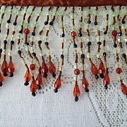 Vintage Beaded  Fringe Trim Yardage