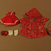 Vogue Ginny Red Dress & Raincoat Outfit 1957 - mid 1960s