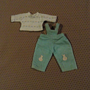 SOLD Vogue Ginny Coveralls and Shirt 1957 - mid 1960's
