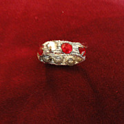 "SOLD Vintage Madame Alexander Cissy Red and ""Diamond"" Rhinestone Silver Elastic Brac"
