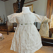 SOLD Late 1800�s Pink Rose Bud Empire Waist Doll Dress