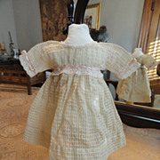 SOLD Late 1800�s Window Pane Doll Dress