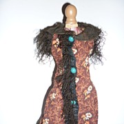 SALE 1870's French Fashion Doll dress or overcoat-unique design
