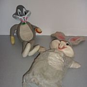 SALE Dee Cee for Mattel Talking Bugs Bunny Puppet and Toy-1968
