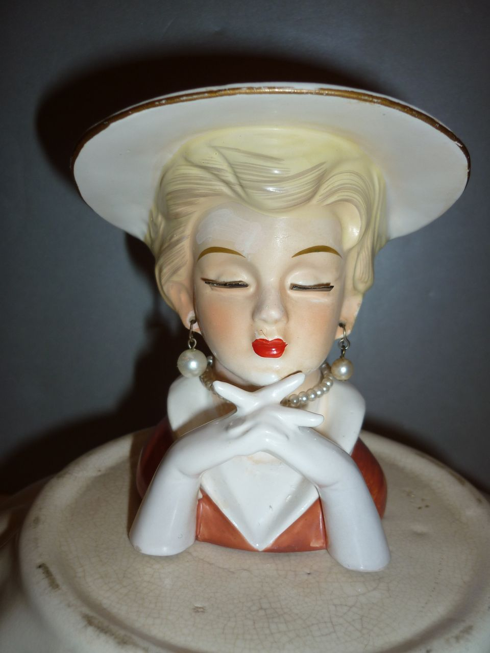 1950's Rubens 494 Head Vase-Pretty girl!