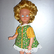 "SALE Vintage Italian Doll in Mini dress-16"" - 1970's gal"