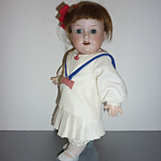 ~Armand Marseille 390 5/0 9&quot; Doll~ Sailor Girl on Chubby -Replaced Toddler Body
