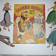 SALE 1950's Samuel Lowe~Square Dance Paper Dolls- Great costumes
