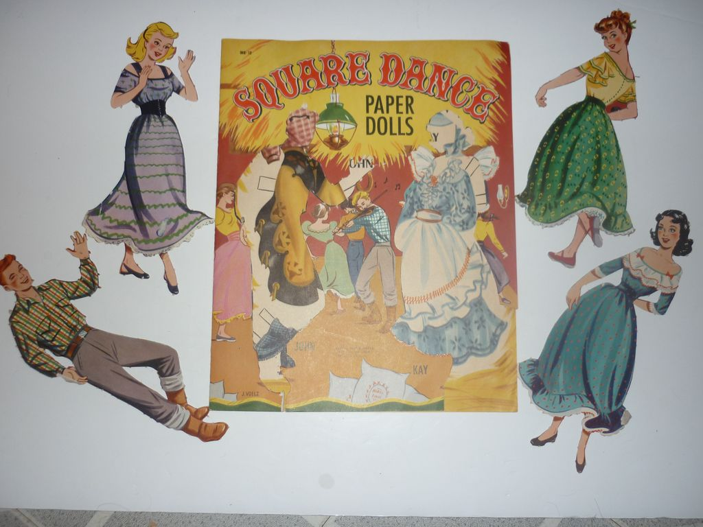 1950's Samuel Lowe~Square Dance Paper Dolls- Great costumes