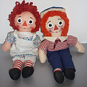 SOLD Raggedy Ann & Raggedy Andy Dolls -1970's Example -Very Nice!