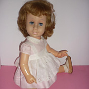 Mattel Chatty Cathy Doll - All Original -Pink Peppermint Outfit -Blonde Bob
