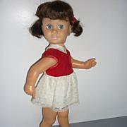 Dee Cee~ Chatty Cathy Doll~ Brunette Piggy - Blue Glassiene Eyes-TLC