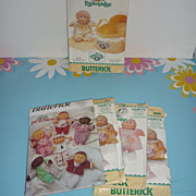 SOLD Cabbage Patch Kid Dolls- Preemie Patterns- 1980's- Lot of 5 - Red Tag Sale Item
