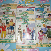 1980's Cabbage Patch Kids Patterns-Lot of 10 with 5 Transfer Sheets