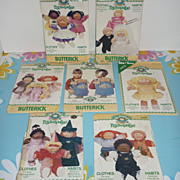 1980's Cabbage Patch Kids-Patterns, Lot of 7-Bridal, Halloween Etc.