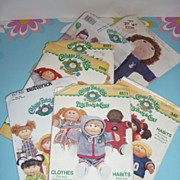 SOLD Cabbage Patch Doll Patterns- Lot of 7 From the 1980's, Sports, Play & Sleepwear