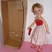 SALE 1950's Dee Cee Cindy Doll -High Heeled Fashion Doll-Original Box Outfit