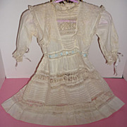 Edwardian Dress 1901-1910 For Large Doll -Small Child -Beautiful Lace