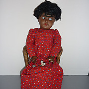 "ON HOLD FOR B.  ~Heinrich Handwerck-Simon Halbig~Black  Doll -19"" As Found"