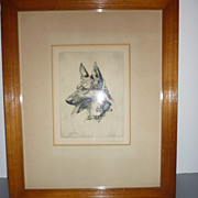 Albert Sterner Lithograph -KUNO- German Shepherd