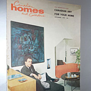 SOLD Lot of 5 includes1959 Canadian Homes And Gardens Magazine- MCM Fall Decorating Issue
