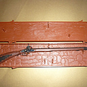 Marx Miniatures ~The Kentucky Rifle~ Case, Rifle, Instructions-1974
