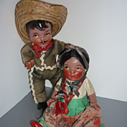 19450's Composition  Dolls - Souvenirs from Mexico