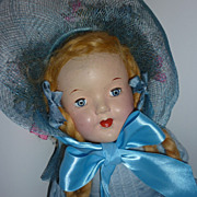 "1948 ~Reliable Gloria Doll~18""-Composition, Paper Mache, Ball Jointed-Very HTF!"