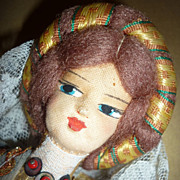 Vintage Souvenir Doll -Italian-Elaborate Costume 13&quot; tall