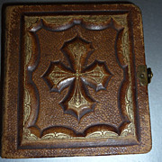 ~Miniature Photo Album~& Tintypes-Antique-Leather Bound-Late 1800's