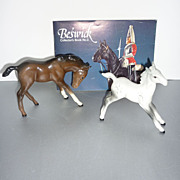 Beswick Lot-Two Foals #836 & #946 With Beswick Collectors Book -No. 3 - 1977