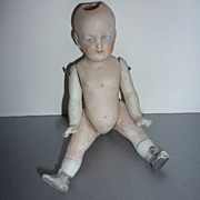 German-Antique Doll-5&quot; Tall- Dug Up from 7 Feet Below Ground