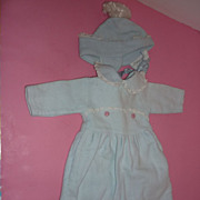 1940's-50's Bunting Set for Baby Doll - Blue and Pink