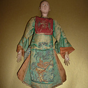 ~Chinese Opera Doll~Antique- Late 1800's to Early 1900's-Wears Original Costume-