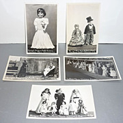 Vintage Set of 5 Doll Postcards - Tucker's Place-Wecoma Oregon