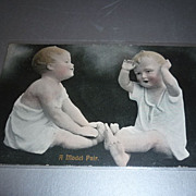 SOLD 1907 -Piano Baby-Postcard ~A Model Pair~ From Scotland