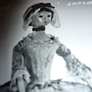 Vintage-18th Century~ English Wooden Doll~ Postcard -Shelburne Museum