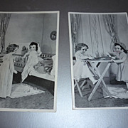 SOLD 1940 Doll Postcard -France & Marianne -From Canadian Display