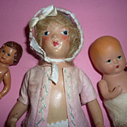 SALE 1930's-40's Trio of Dolls -Madame Alexander, K & W, ARI -German doll