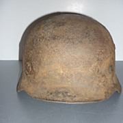 WW 1 German Helmet - Rusty Relic -Buried in a Field, then Dug Up.